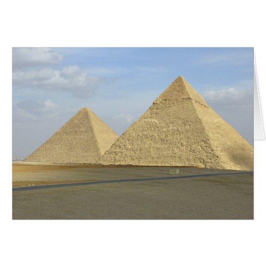 Giza Pyramids Photo Card