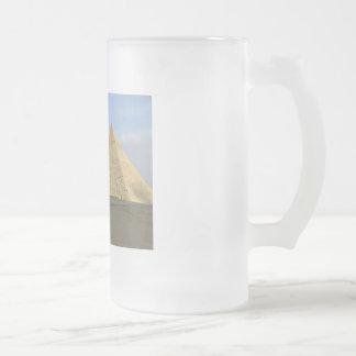 Giza Pyramids Photo Frosted Glass Beer Mug