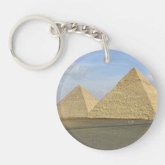 Giza Pyramids Photo Keychain