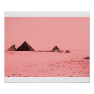 Giza Pyramids (Pink) Poster