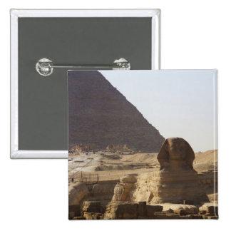 Giza Pyramids Sphinx photo Button