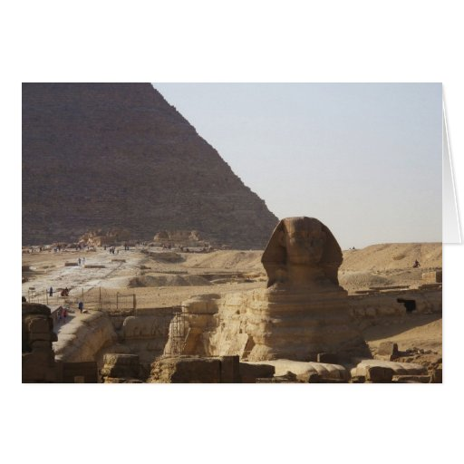 Giza Pyramids & Sphinx photo Greeting Card