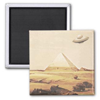 Giza Spaceship 2 Inch Square Magnet