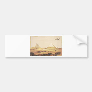 Giza Spaceship Bumper Sticker