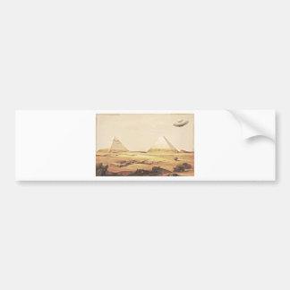 Giza Spaceship Bumper Stickers