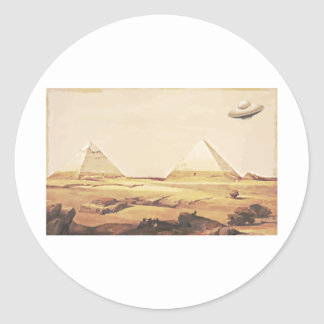 Giza Spaceship Classic Round Sticker