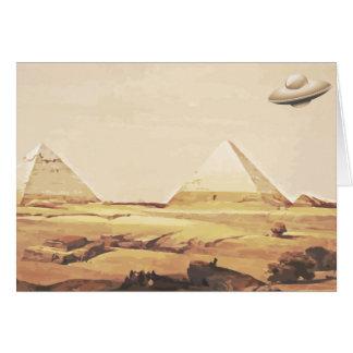 Giza Spaceship Greeting Card