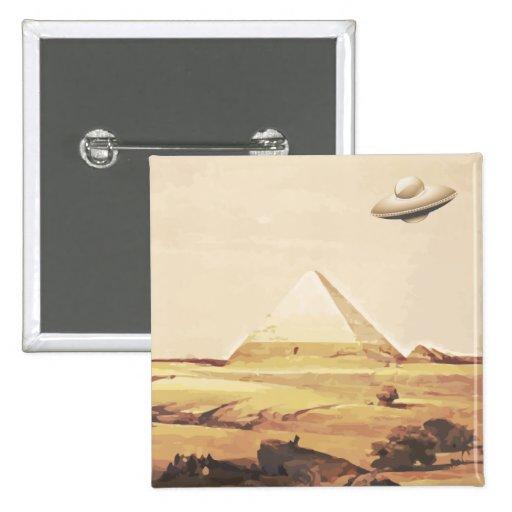 Giza Spaceship Pinback Button