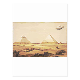 Giza Spaceship Postcard