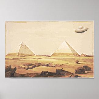 Giza Spaceship Poster