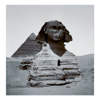 GIZA SPHINX and PYRAMID  1900 Poster