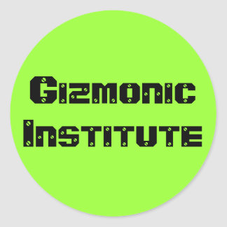 Gizmonic Institute Classic Round Sticker