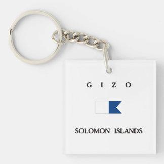 Gizo Solomon Islands Alpha Dive Flag Keychain