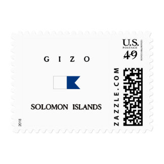 Gizo Solomon Islands Alpha Dive Flag Stamps