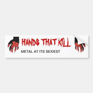 gj hands right, gj hands left, FRESNO METAL AT ... Bumper Sticker