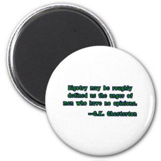 GK Chesterton and Bigotry Magnet