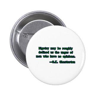 GK Chesterton & Bigotry Button
