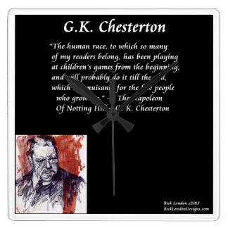 GK Chesterton Square Wall Clock
