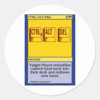 GK: Ctrl+Alt+Del Classic Round Sticker