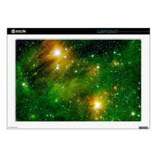 "GL490 Green Gas Cloud Nebula Decal For 17"" Laptop"