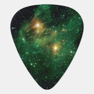 GL490 Green Gas Cloud Nebula Guitar Pick