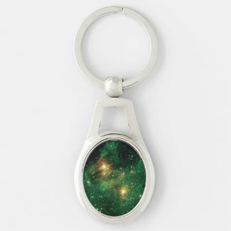 GL490 Green Gas Cloud Nebula Keychain