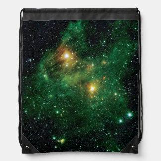 GL490 Green Gas Cloud Nebula - NASA Space Photo Drawstring Backpack