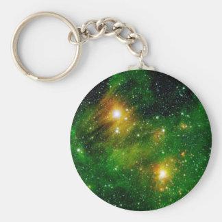 GL490 Green Gas Cloud Nebula - NASA Space Photo Keychain