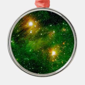GL490 Green Gas Cloud Nebula - NASA Space Photo Metal Ornament