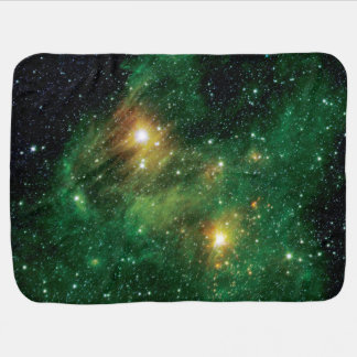 GL490 Green Gas Cloud Nebula - NASA Space Photo Receiving Blanket