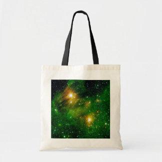 GL490 Green Gas Cloud Nebula - NASA Space Photo Tote Bag