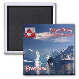 GL - Greenland - Scoresby Sund - Iceberg 2 Inch Square Magnet