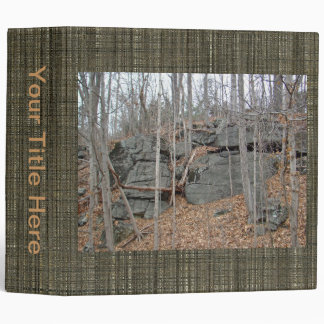 Glacial Boulders Montgomery County Pennsylania 3 Ring Binder
