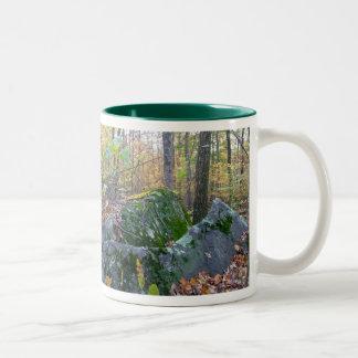 Glacial Boulders Montgomery County Pennsylania Two-Tone Coffee Mug