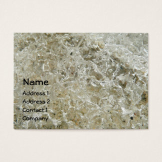 Glacial Ice Abstract Nature Textured Design Business Card