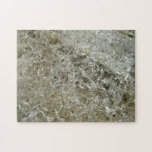 Glacial Ice Abstract Nature Textured Design Jigsaw Puzzle