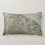 Glacial Ice Abstract Nature Textured Design Lumbar Pillow