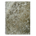 Glacial Ice Abstract Nature Textured Design Notebook