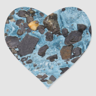 Glacial Ice with a Speck of Gold - Glacier Heart Sticker