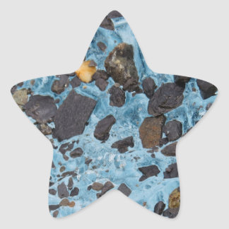 Glacial Ice with a Speck of Gold - Glacier Star Stickers