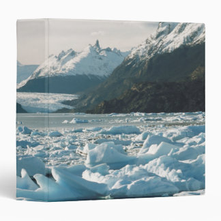Glacial Icebergs 3 Ring Binder