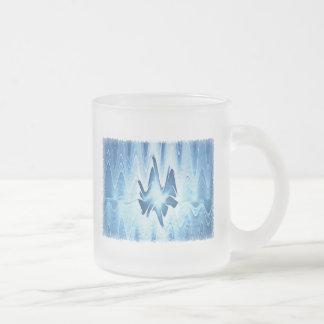 Glacial Lake Frosted Glass Coffee Mug