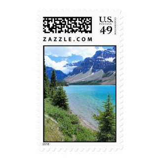 Glacial Lake Postage Stamp