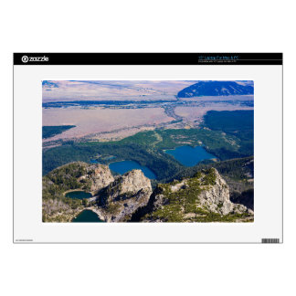 """Glacial lakes from above 15"""" laptop decal"""