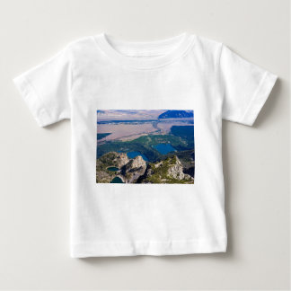 Glacial lakes from above infant t-shirt