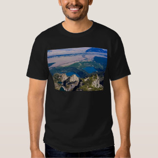 Glacial lakes from above tee shirt