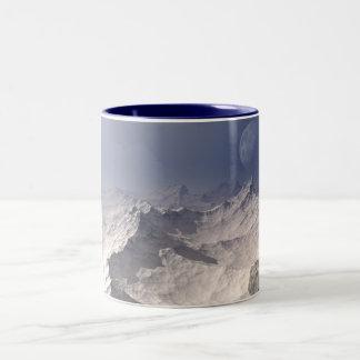 Glacial Landscape Two-Tone Coffee Mug