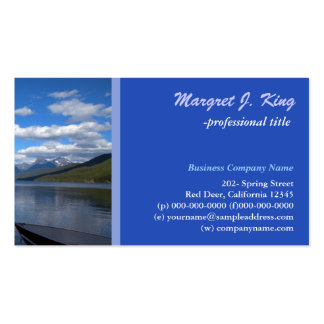 Glacial National Park  photography profile card Business Card