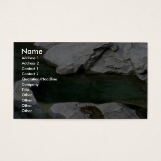 Glacial pool business card