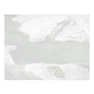 Glacial pool customized letterhead
